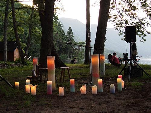 キャンドルデコレーションは「handmade candle lifart…」西牧さん